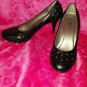 Candies Vintage Blck with design heels